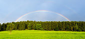 Rainbow over rural landscap in  the  summer, Germany