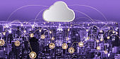 Cloud computing technology and online data storage for global data sharing.