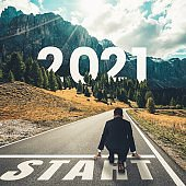The 2021 New Year journey and future vision concept