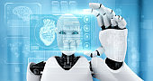 Future medical technology controlled by AI robot using machine learning