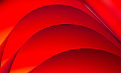 Waves of red colored paper sheets