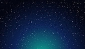 Abstract Space Background, Cosmos and Stars