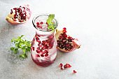 Pomegranate infused water