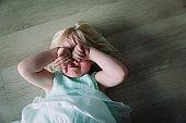 sad crying child, pain, stress, shouting kid