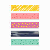 cute patterned ribbon or scrapbook tape set