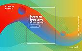 colorful modern 3d wave motion background template design