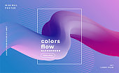 3d colorful flowing wave modern background design template