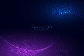 flowing particles digital technology background design design