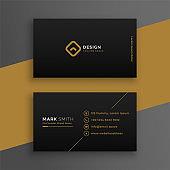elegant black dark business card design template