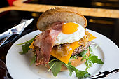 Gourmet burger with delicious toppings