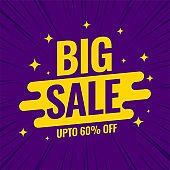 big sale promotional banner template for shopping
