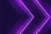neon purple lights background in arrow style