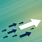 leadership business growth arrow moving in forward direction