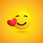 Smiling Emoji with Red Heart