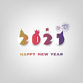 New Year Card Background - 2021