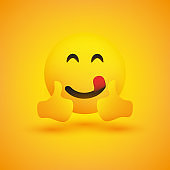 Smiling Emoji with Both Thumbs Up