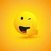 Laughing Emoji Showing Thumbs Up