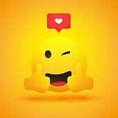 Smiling Emoji with Thumbs Up