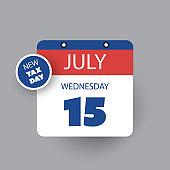 US Tax Day Concept - Calendar Design Template