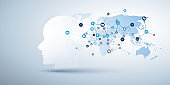 Machine Learning, Artificial Intelligence, Cloud Computing and Networks Design Concept