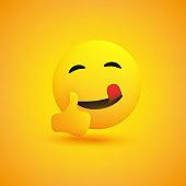 Smiling Emoji Showing Thumbs Up