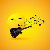 Singing or Whistling Emoji Design