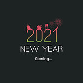New Year's Coming Card - 2021