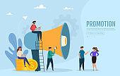 Big megaphone attracts buyers of investors and businessmen.