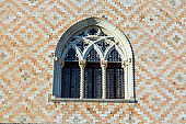 Semicircular ornate window