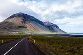 Seaside highway in Iceland