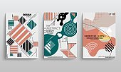 stock vector covers templates set with graphic geometric elements applicable for brochures posters covers-45