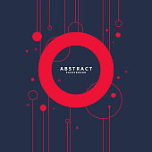 Abstract background with geometric shapes. Vector template