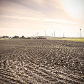 Plowed fields in Austria
