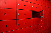 Red Post Box with Number Images