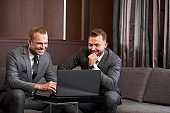 business men co-working with laptop