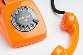 Vintage & retro telephone for call center concept