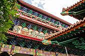 Colored buddhist temple