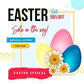 Happy Easter Day Festival Sale Poster Design