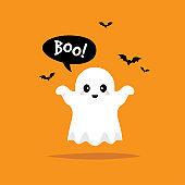 Cute little baby ghost.