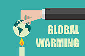 burning the world, stop global warming concept