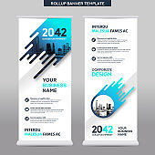 City Background Business Roll Up Design Template