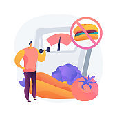 Weight loss diet abstract concept vector illustration.
