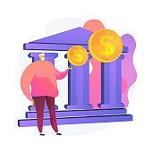 Retirement investment vector concept metaphor