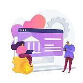 Open banking platform vector concept metaphor