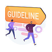 Guideline and regulation vector concept metaphor.