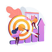 Data initiative abstract concept vector illustration.