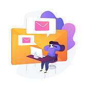 Email service vector concept metaphor.