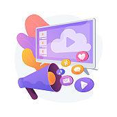 Online advertising vector concept metaphor