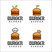 Burger   Design Vector, Fast Food, Restaurant And Cafe Symbol