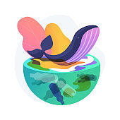 Water pollution abstract concept vector illustration.